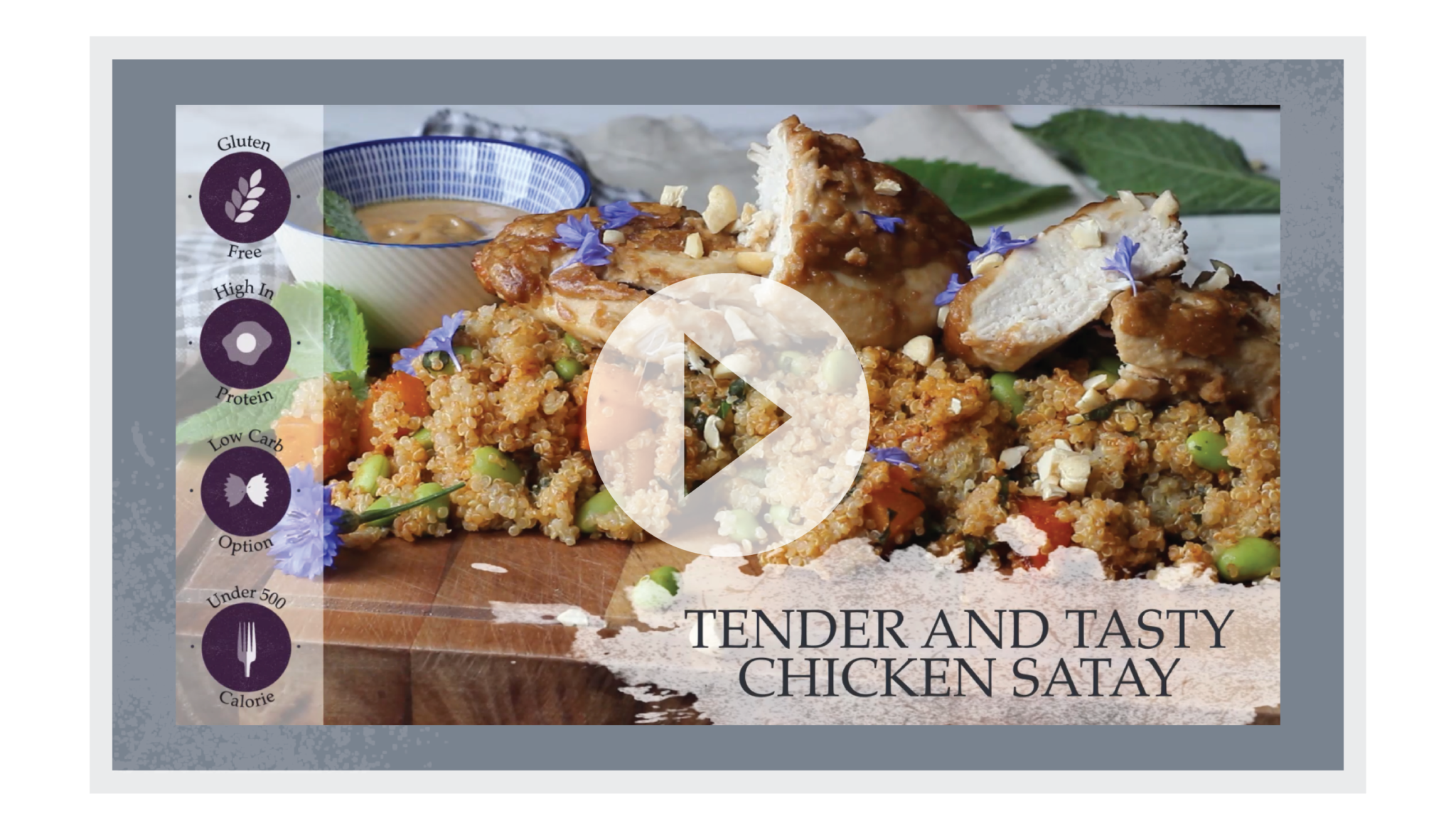 New recipe from proper foodie chicken satay and quinoa salad new recipe from proper foodie chicken satay and quinoa salad forumfinder Choice Image