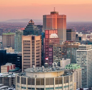Image of downtown Montreal Canada Contact ZOOM Media
