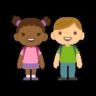 Enfants joyeux les consommateurs Generation Active ont des enfants