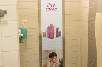 Waterproof Product Advertisement in Gym Shower