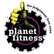 Planet Fitness logo ZOOM Media Partner Health Club Video Network