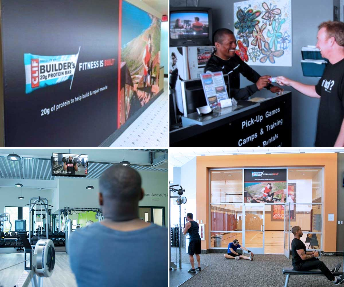 Clif Bar and Company's ZOOM Media Campaign Collage Locker Room Gym Sampling Video with Sound on the Generation Active Network