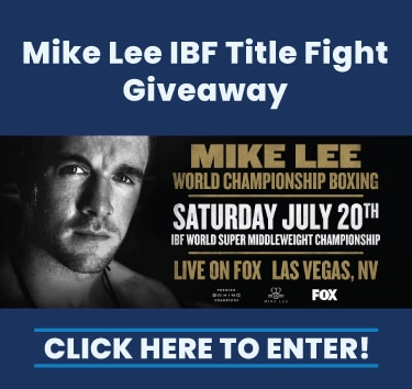 Mike Lee Title Fight Ticket Giveaway. Click to enter.