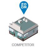 Isometric icon illustration of store locations