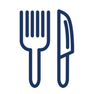 Icon illustration of a knife and fork